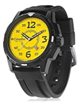 Columbia Black PU Analog Men Watch CA800 901