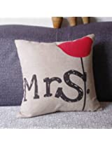 Lovers Valentine Cotton Linen Throw Pillow Case Home Cover (M9)