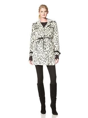 Via Spiga Women's Pipa Single-Breasted Faux Fur Jacket (Black/White)