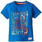 Nauti Nati Baby Boys' T-Shirt (NSS15-801_Blue Print_6 - 12 months)