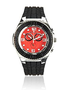 Breed Men's Rogue Black/Red Polyurethane Watch