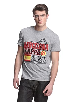 Kappa Men's Barcelona Felt Applique Mondo Tee (Grey Heather)
