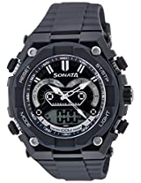Sonata Men's Analog and digital Watch 77030Pp03