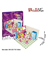 3 D Puzzle Honey Room Kitchen Cubic Fun 3 D Puzzle P658h 61 Pieces Decorative Fashion Best Seller Cubic Fun Exiting Fun Educational Historic Playing Building Game Diy Holiday Kids Best Gift Toy Set