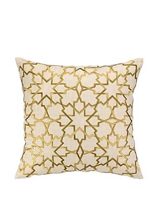 Peking Handicraft Moroccan Star Pillow, Citron