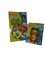 Nuby Splash N Catch Bath Time Fishing Set + Nuby Bathtime Fun Splish Splash Stacking Cups Bundle