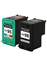 Valuetoner Remanufactured Ink Cartridge Replacement For Hewlett Packard HP 98 & HP 95 CB327FN C9364WN C8766WN (1 Black 1 Tri-Color) 2 Pack Compatible With Deskjet 5940 5940xi Officejet 100 150 6300 6301 6305 6310 6310v 6310xi 6315 6318 H470 H470b H470wbt Photosmart 2570 2575 2575v 2575xi 8030 8038 8049 8050 8053 C4100 C4110 C4140 C4150 C4180 C4183 C4188 D5060 D5065 D5069 D5100 D5145 D5155 D51