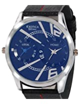 Exotica Analog Blue Dial Men's Watch (EF-85-Dual-Blue)
