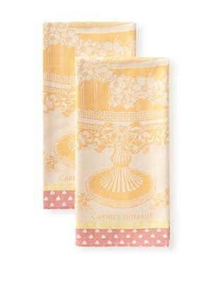 Garnier-Thiebaut Set of 2 Ceremonie Kitchen Towels, Mandarine