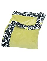 Trend Lab Waverly Rise and Shine Ruffle Trimmed Receiving Blanket, Black/White