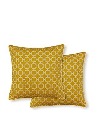 Dakota Set of 2 Hockley Pillows (Banana)