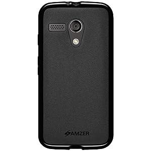 Amzer 96318 Pudding TPU Case for Motorola Moto G XT1032 (Black)