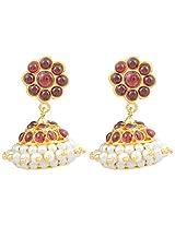 Khushi Purchase Metal Jhumki Earring For Women (Red)