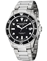 Stuhrling Original Aquadiver Analog Black Dial Men's Watch - 417.02