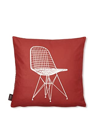 Inhabit 1951 Pillow (Scarlet/Chocolate)
