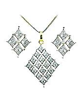 WomanWa Diamond Of Diamonds Earrings With Matching Pendant