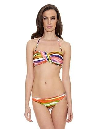 Cortefiel Bikini Bandeau Tye Copa Foam Balle (Multicolor)
