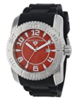 "Swiss Legend Men's 20068-05SET ""Commander"" Stainless Steel, Black Silicone, and Red Dial Watch Set"
