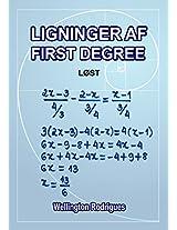 Ligninger af First Degree: løst (Matemática Book 1) (Danish Edition)