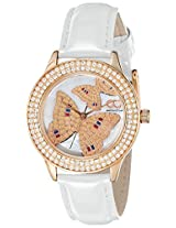 Gio Collection Analog White Dial Women's Watch - G0054-04