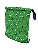 Planet Wise Roll Down Wet Diaper Bag, Green Chomp, Large