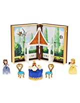 Disney Sofia Tea Garden Book Play Set with Book Case Sofia Figure, Amber Figure Tray with Tea Pot, T
