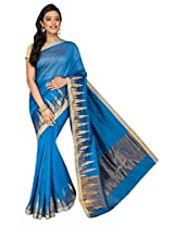Korni Cotton Silk Banarasi Saree DS-1528- Blue KR0463