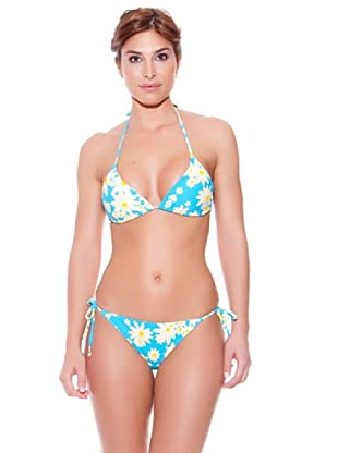 Teleno Bikini Cortina Braguita De Atar (Turquesa)
