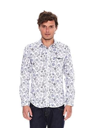 Desigual Camisa Urbanley (Blanco / Azul / Gris)