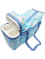 Wonderkids Blue Bunny Print Baby Diaper Bag ( BL-009-BBDB )