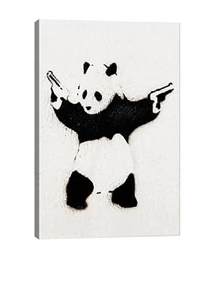 Banksy Panda With Guns Giclée On Canvas