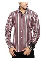 Moksh Men's Striped Casual Shirt V2IMS0414-254 (Large)