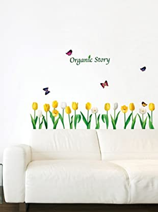 Ambiance Live Vinilo Adhesivo Yellow And White Poppies Flowers Wall Decals
