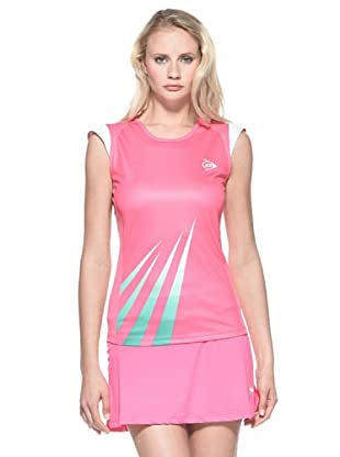 Dunlop Abbigliamento Ladies - Micro Sleeve (Rosa/Bianco)