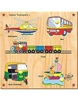 Kinder Creative-KCS-18-Junior Vehicles with Knobs(Multicolour)