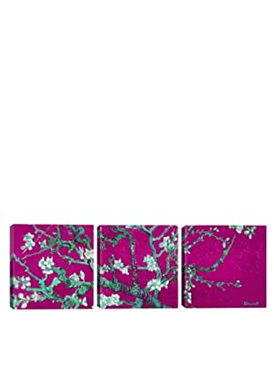 iCanvasArt Vincent Van Gogh: Almond Blossom, Pink Panoramic Giclée Triptych
