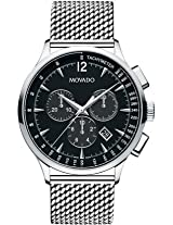 Movado Circa Analogue Black Dial Men's Watch - 606803
