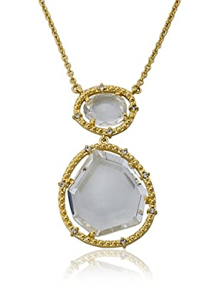 Riccova Double Clear Sliced Glass Pendant Necklace