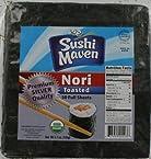 Sushi Maven Premium Silver Quality Toasted Sushi Nori - 50 Full Sheets (1 Pack)