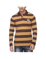 Vettorio Fratini Men's Polo Cotton T-Shirt (9518296_Camel_Large)