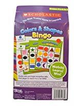 Scholastic Colors & Shapes Bingo Learning Educational Game Pre K Kindergarten Readiness