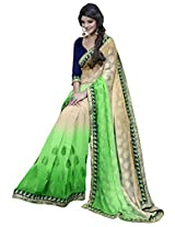 Manvaa green and beige saree -SGN21715