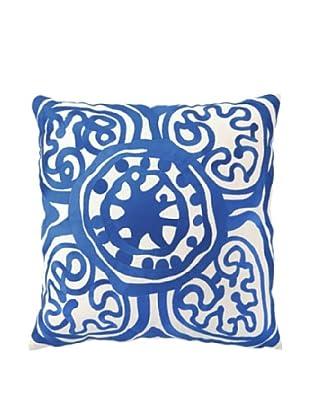 Trina Turk Rustic Medallion Embroidered Pillow (Lapis)