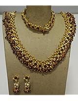 Kundan Beads Necklace Set