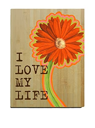 Artehouse I Love My Life Bamboo Wood Sign