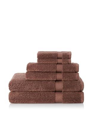 Pure Fiber 6-Piece Organic Cotton Bath Towel Set (Chocolate)