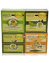 GTEE Moringa Tea Bags & Tulsi Tea Bags & Green Tea Bags - Regular & Green Tea Bags-Chamomile (10 Tea Bags X 4 PACKS)