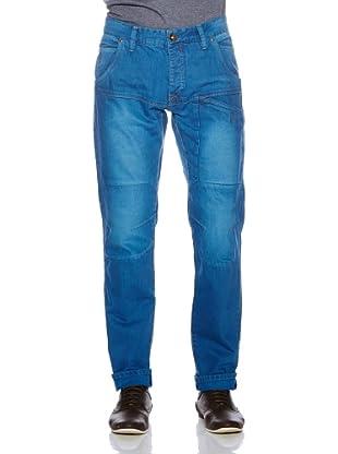 Solid! Pantalón Casual Used (Azul)