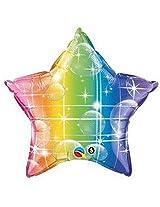 """20"""" Rainbow Star Shape Foil Balloon Includes 1"""