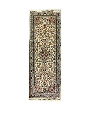 L'EDEN DEL TAPPETO Alfombra Kashmirian F/Seta Beige/Multicolor 161 x 65 cm